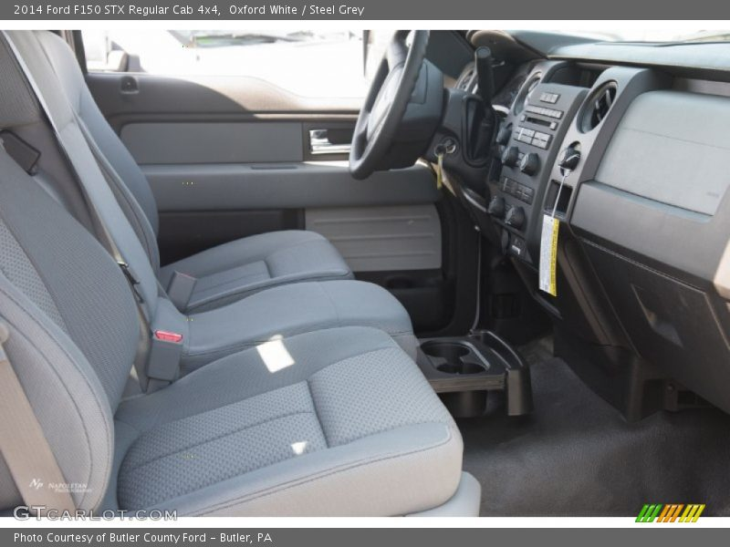 Oxford White / Steel Grey 2014 Ford F150 STX Regular Cab 4x4