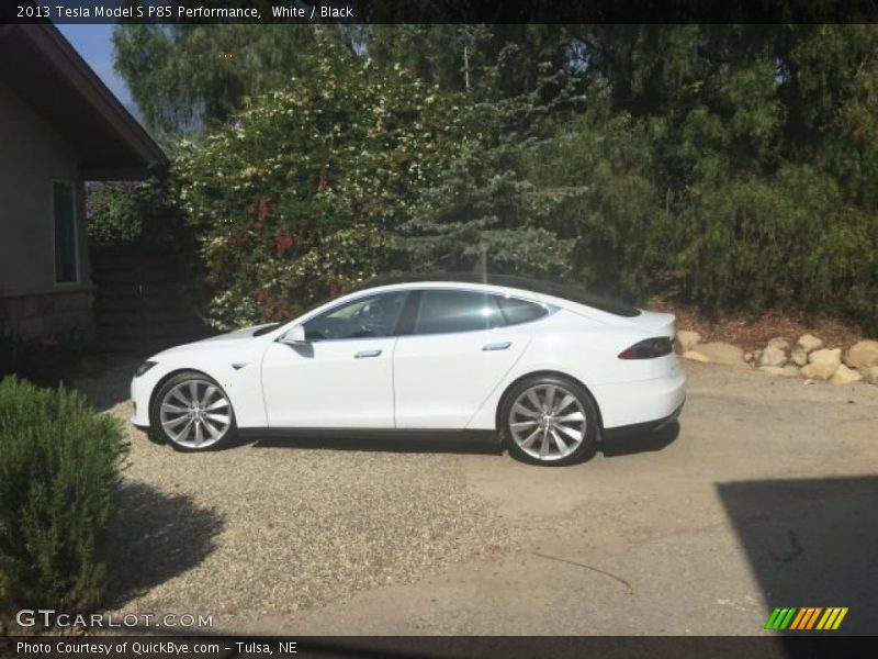 2013 Model S P85 Performance White