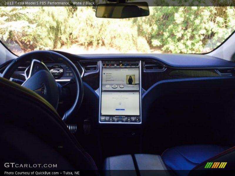 White / Black 2013 Tesla Model S P85 Performance
