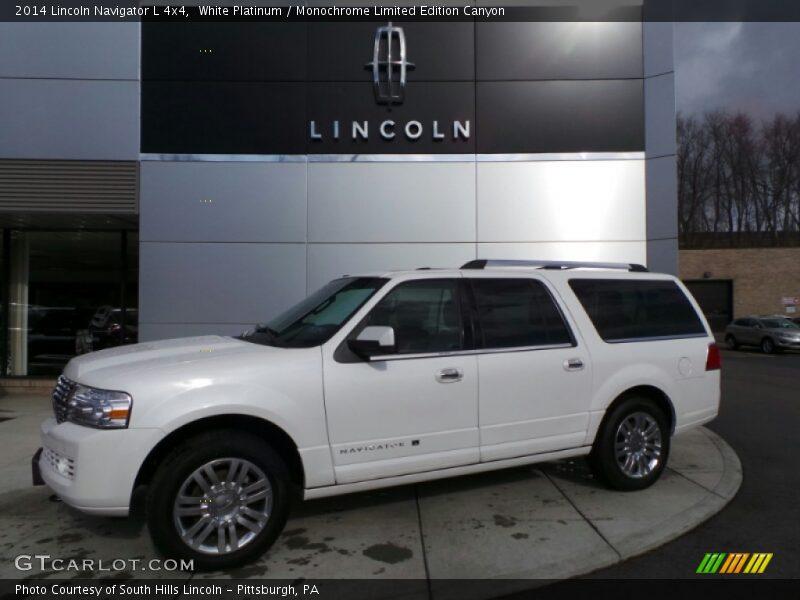 2014 lincoln navigator l 4x4 in white platinum photo no