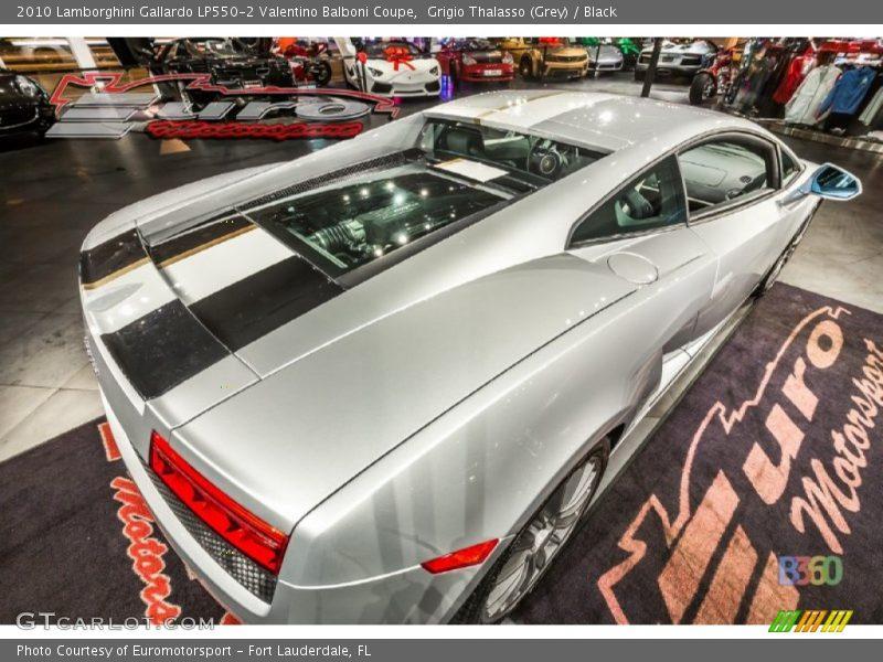 Grigio Thalasso (Grey) / Black 2010 Lamborghini Gallardo LP550-2 Valentino Balboni Coupe