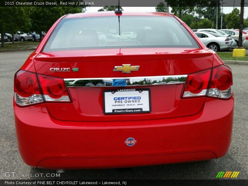 Red Hot / Jet Black 2015 Chevrolet Cruze Diesel