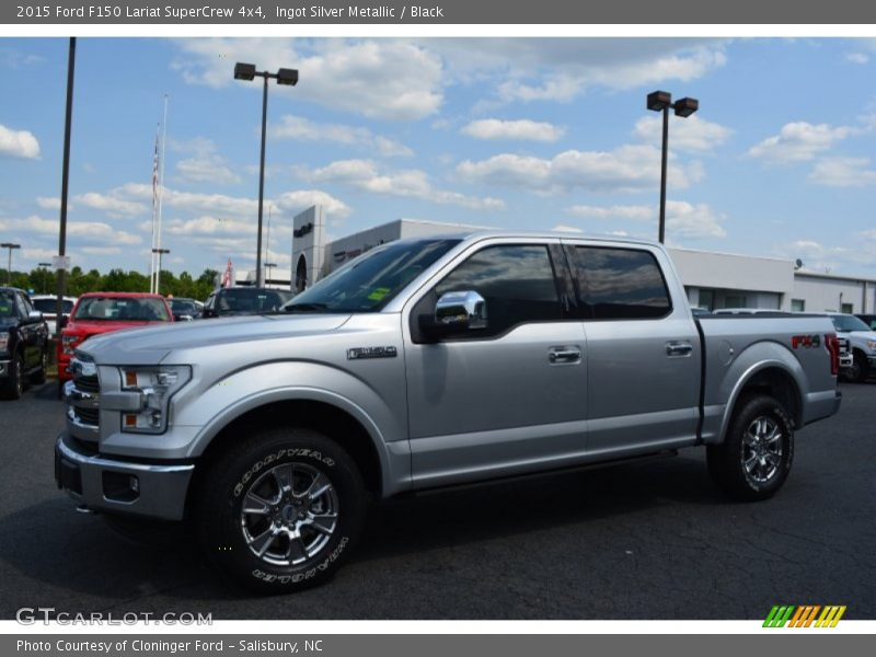 Ingot Silver Metallic / Black 2015 Ford F150 Lariat SuperCrew 4x4