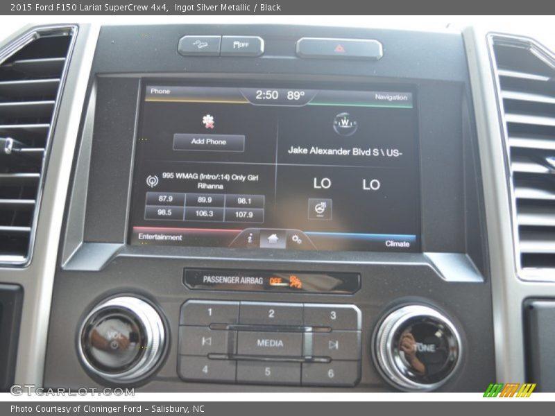 Ingot Silver Metallic / Black 2015 Ford F150 Lariat SuperCrew 4x4