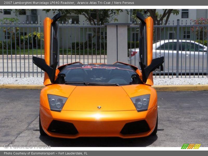 Arancio Atlas Tri-Coat / Nero Perseus 2007 Lamborghini Murcielago LP640 Roadster
