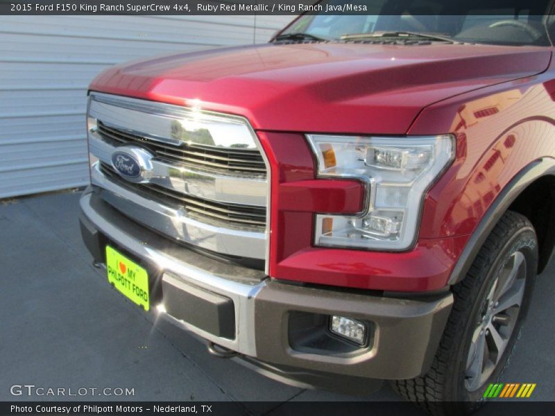 Ruby Red Metallic / King Ranch Java/Mesa 2015 Ford F150 King Ranch SuperCrew 4x4