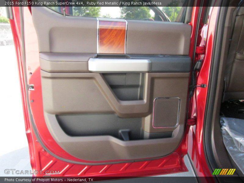 Ruby Red Metallic / King Ranch Java/Mesa 2015 Ford F150 King Ranch SuperCrew 4x4