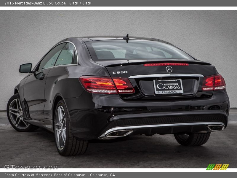 Black / Black 2016 Mercedes-Benz E 550 Coupe