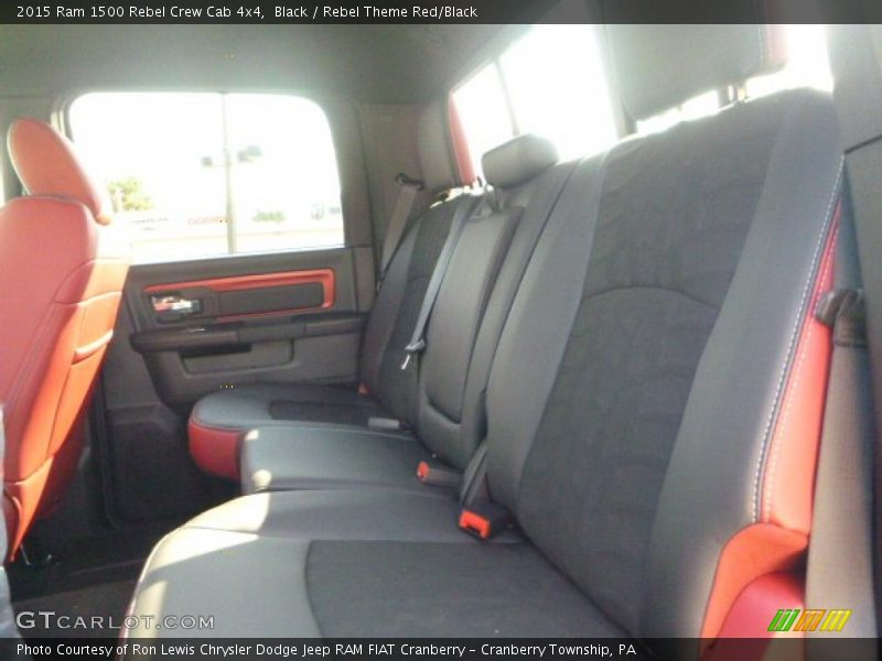 Rear Seat of 2015 1500 Rebel Crew Cab 4x4