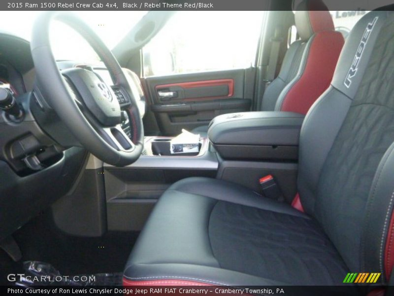 2015 1500 Rebel Crew Cab 4x4 Rebel Theme Red/Black Interior