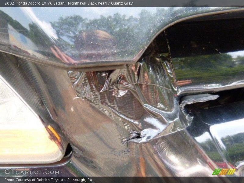 Nighthawk Black Pearl / Quartz Gray 2002 Honda Accord EX V6 Sedan