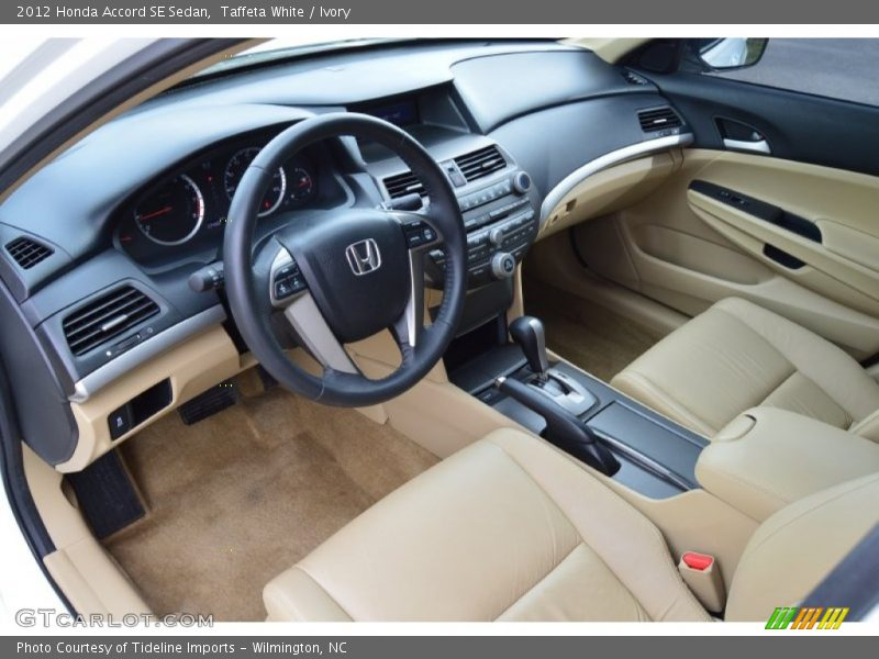 2012 Accord SE Sedan Ivory Interior