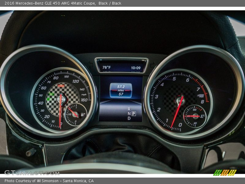 2016 GLE 450 AMG 4Matic Coupe 450 AMG 4Matic Coupe Gauges