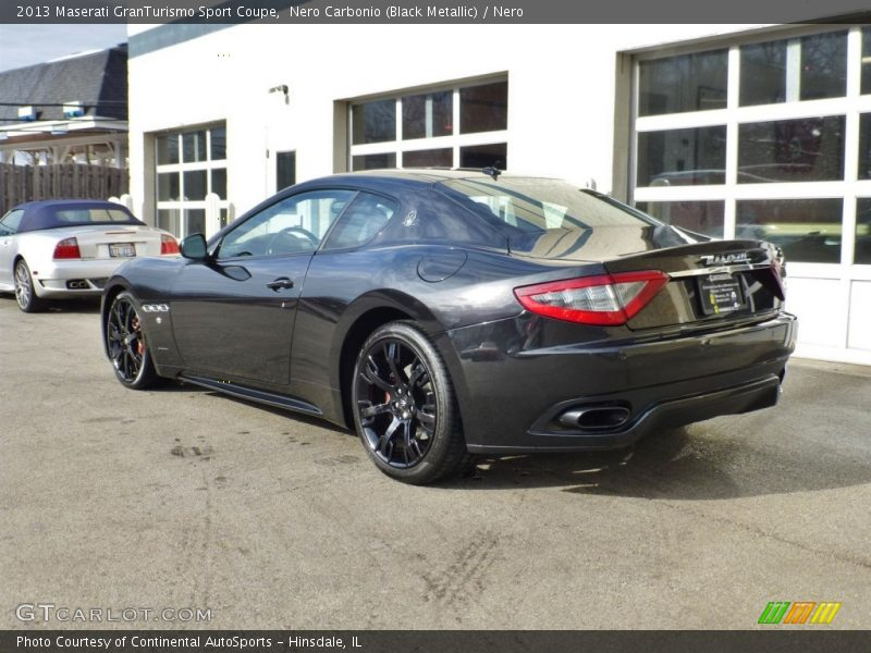 Nero Carbonio (Black Metallic) / Nero 2013 Maserati GranTurismo Sport Coupe