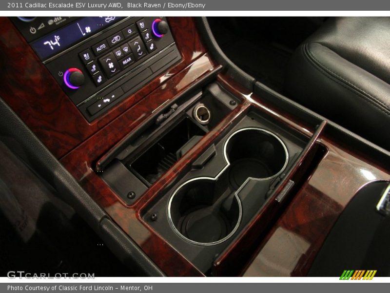 Black Raven / Ebony/Ebony 2011 Cadillac Escalade ESV Luxury AWD
