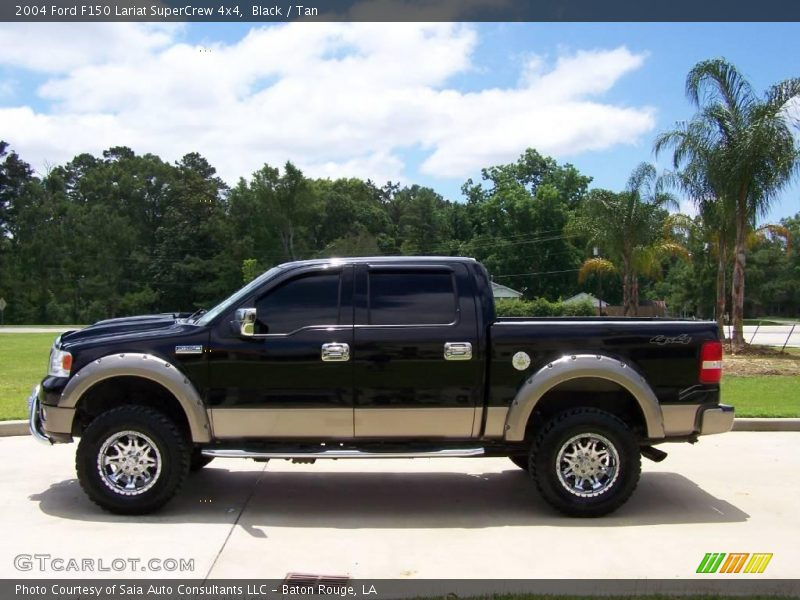 2004 ford f150 lariat supercrew 4x4 in black photo no. Black Bedroom Furniture Sets. Home Design Ideas