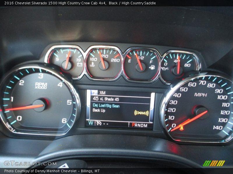 Black / High Country Saddle 2016 Chevrolet Silverado 1500 High Country Crew Cab 4x4