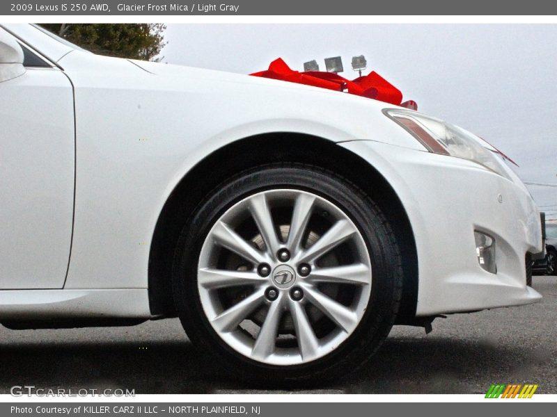 Glacier Frost Mica / Light Gray 2009 Lexus IS 250 AWD