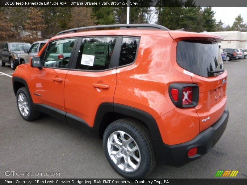 Omaha Orange / Bark Brown/Ski Grey 2016 Jeep Renegade Latitude 4x4