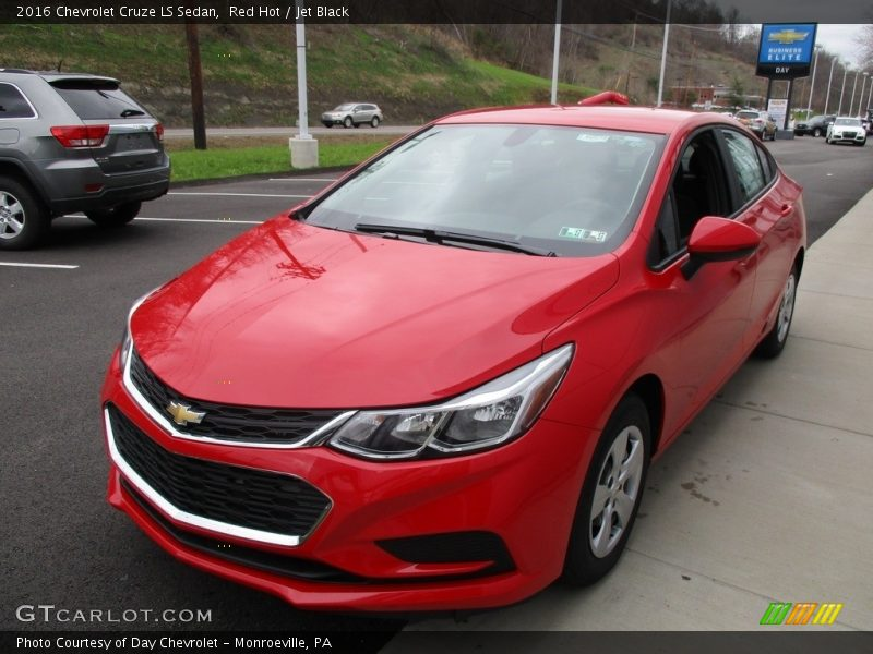 Red Hot / Jet Black 2016 Chevrolet Cruze LS Sedan