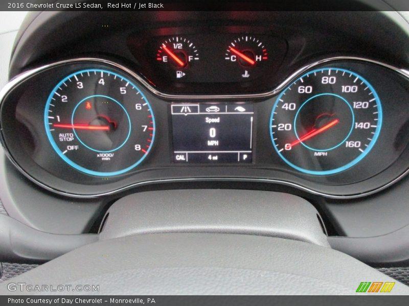 Red Hot / Jet Black 2016 Chevrolet Cruze LS Sedan