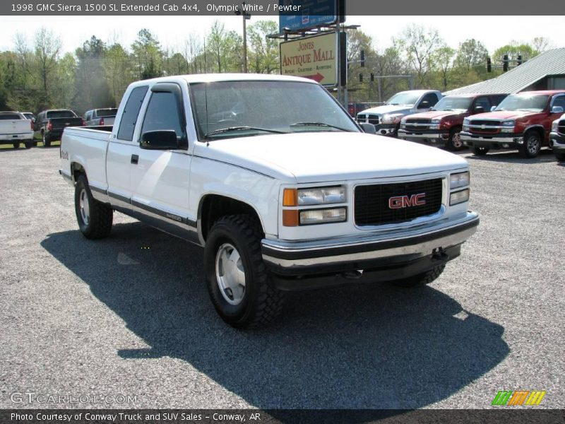 1998 gmc sierra 1500 sl extended cab 4x4 in olympic white. Black Bedroom Furniture Sets. Home Design Ideas