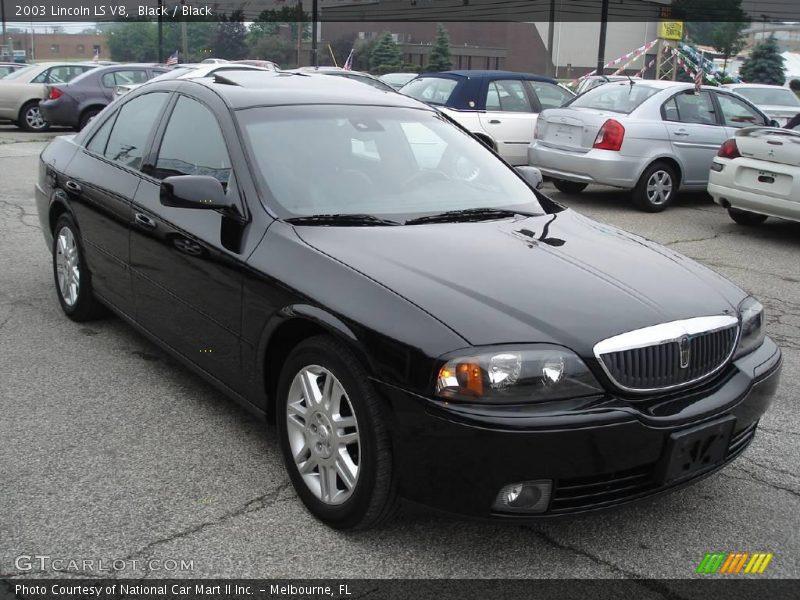 Black / Black 2003 Lincoln LS V8 Photo #4