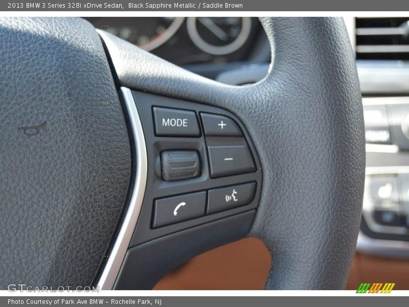 Black Sapphire Metallic / Saddle Brown 2013 BMW 3 Series 328i xDrive Sedan