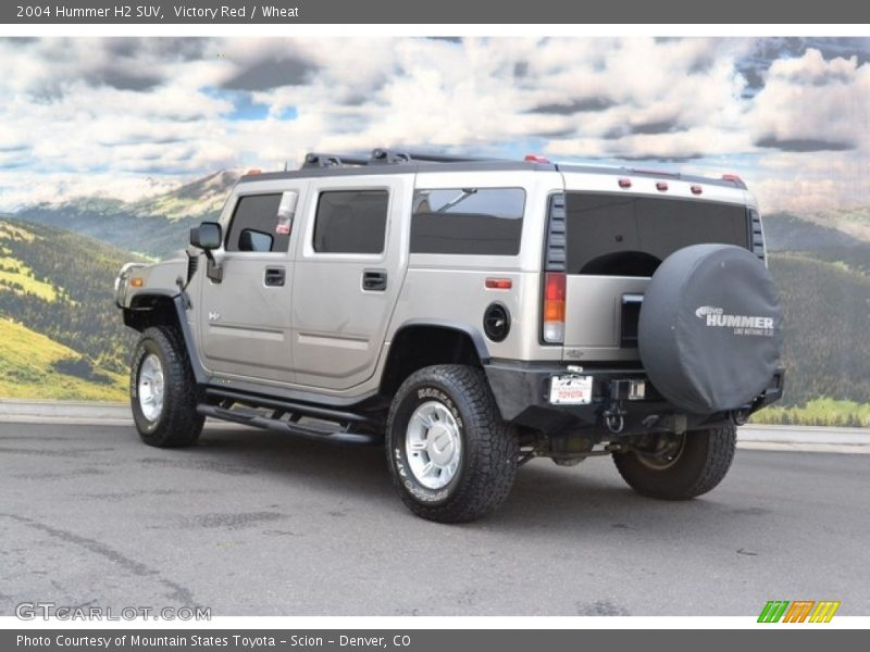 Victory Red / Wheat 2004 Hummer H2 SUV