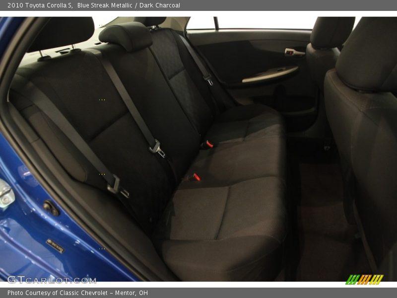 Blue Streak Metallic / Dark Charcoal 2010 Toyota Corolla S