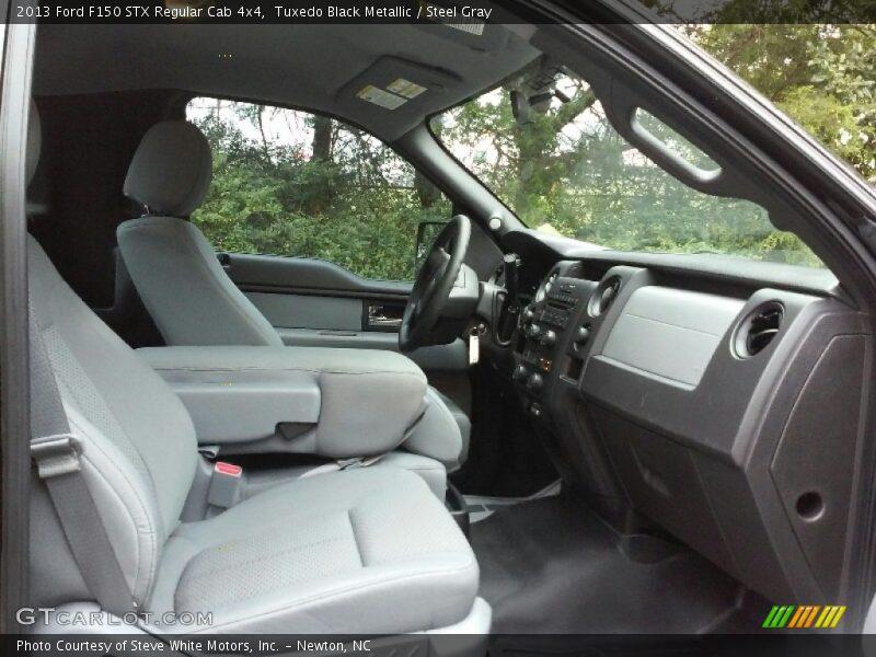 Tuxedo Black Metallic / Steel Gray 2013 Ford F150 STX Regular Cab 4x4