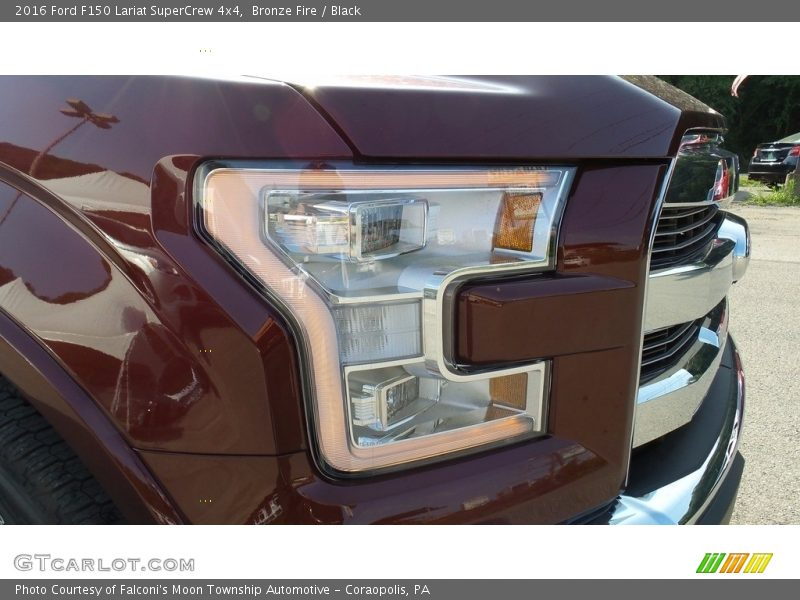 Bronze Fire / Black 2016 Ford F150 Lariat SuperCrew 4x4