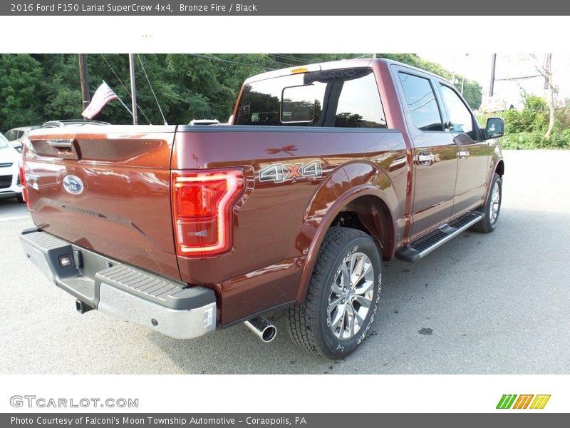 Bronze Fire / Black 2016 Ford F150 Lariat SuperCrew 4x4