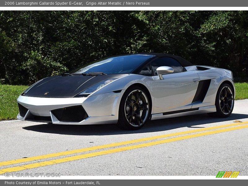 Grigio Altair Metallic / Nero Perseus 2006 Lamborghini Gallardo Spyder E-Gear