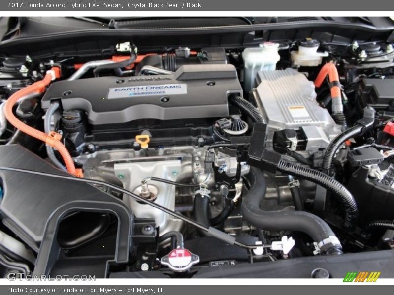 Crystal Black Pearl / Black 2017 Honda Accord Hybrid EX-L Sedan
