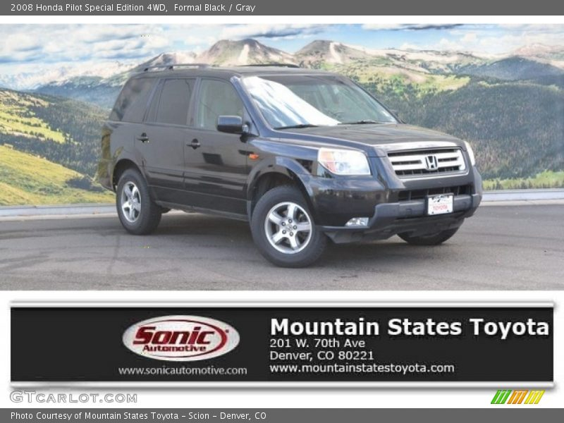 Formal Black / Gray 2008 Honda Pilot Special Edition 4WD