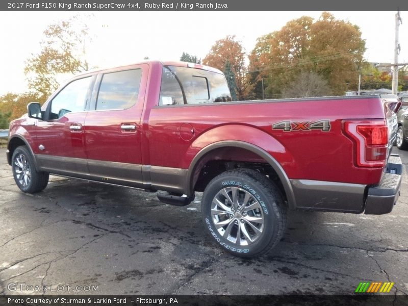 Ruby Red / King Ranch Java 2017 Ford F150 King Ranch SuperCrew 4x4