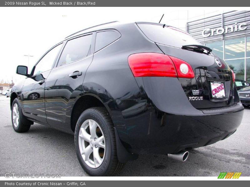 2009 nissan rogue sl in wicked black photo no 11697218. Black Bedroom Furniture Sets. Home Design Ideas