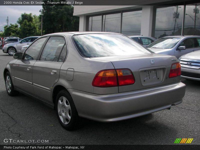 2000 honda civic ex sedan in titanium metallic photo no for 2000 honda civic ex specs
