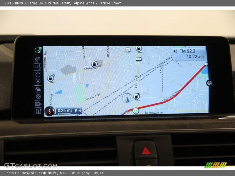 Navigation of 2016 3 Series 340i xDrive Sedan