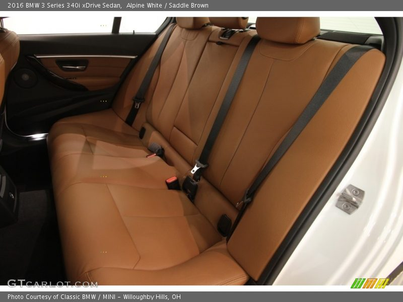 Alpine White / Saddle Brown 2016 BMW 3 Series 340i xDrive Sedan