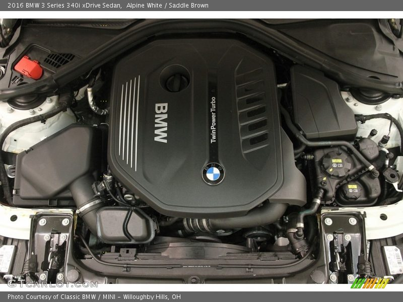 2016 3 Series 340i xDrive Sedan Engine - 3.0 Liter DI TwinPower Turbocharged DOHC 24-Valve VVT Inline 6 Cylinder