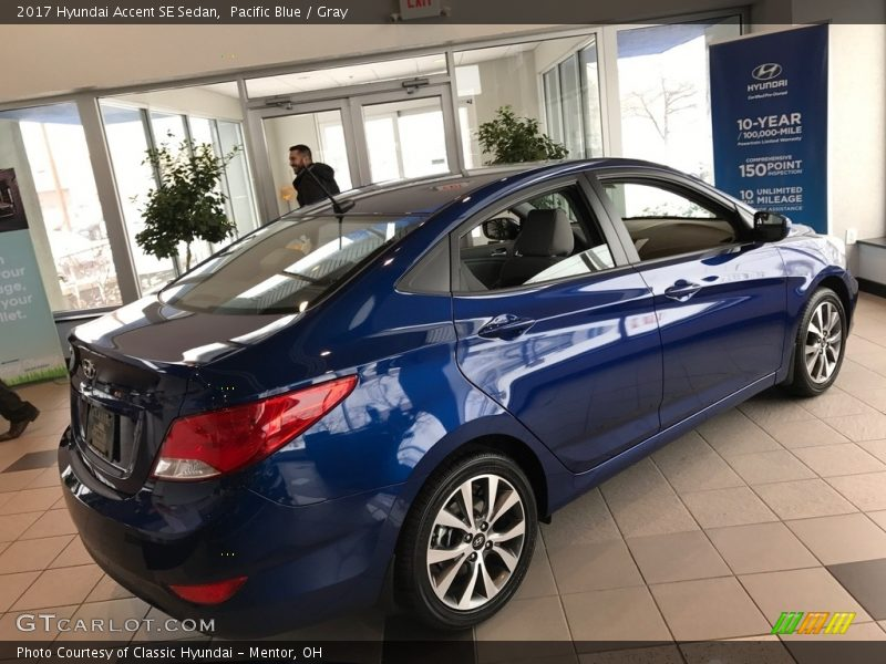Pacific Blue / Gray 2017 Hyundai Accent SE Sedan