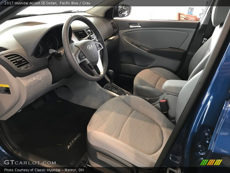 2017 Accent SE Sedan Gray Interior
