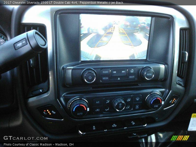 Pepperdust Metallic / Jet Black 2017 Chevrolet Silverado 1500 LT Double Cab 4x4