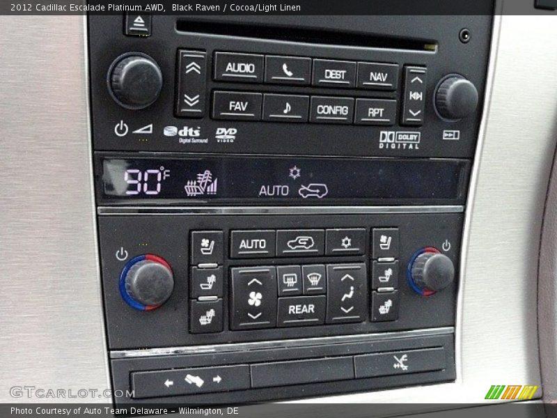 Black Raven / Cocoa/Light Linen 2012 Cadillac Escalade Platinum AWD