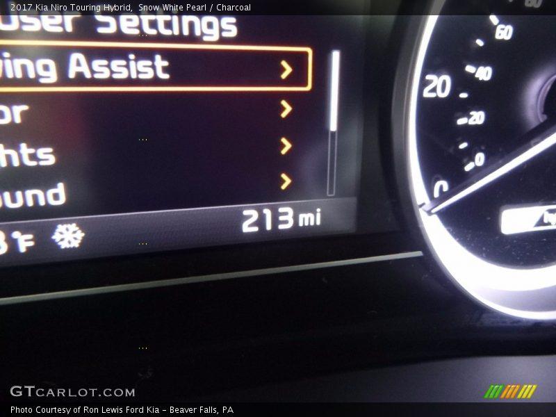 Snow White Pearl / Charcoal 2017 Kia Niro Touring Hybrid