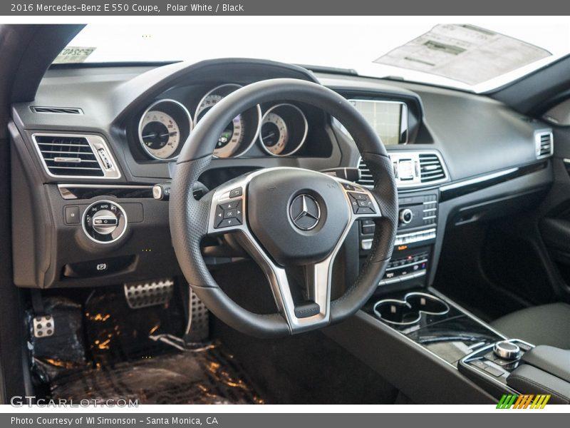 Polar White / Black 2016 Mercedes-Benz E 550 Coupe