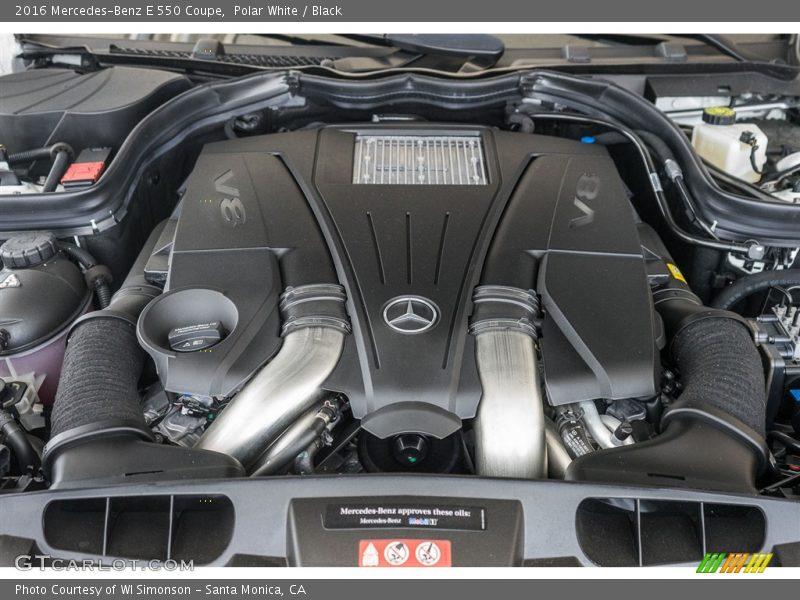 2016 E 550 Coupe Engine - 4.6 Liter DI biturbo DOHC 32-Valve VVT V8