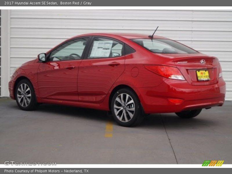 Boston Red / Gray 2017 Hyundai Accent SE Sedan